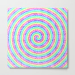 The magic of the colorful maze Metal Print