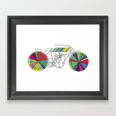 Rainbow Cycle Framed Art Print