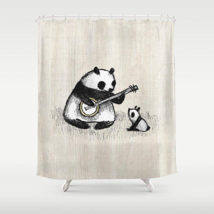 Banjo Panda Shower Curtain