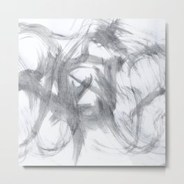 Ghost, Abstract, White & Black Metal Print