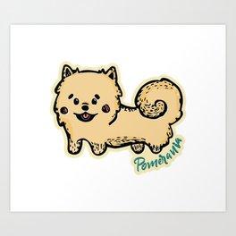 Pomerania Dog Art Print