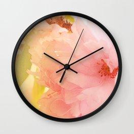 Cherry Blossom Glow Wall Clock