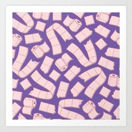 I Dream of Toilet Paper - Vapor Purple Art Print