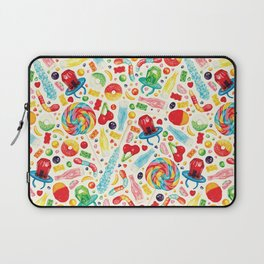 Candy Pattern - White Laptop Sleeve