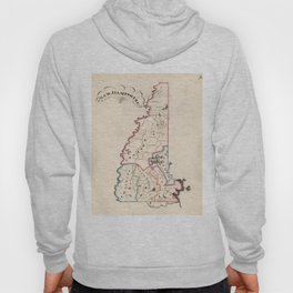 Vintage Map of New Hampshire (1819) Hoody