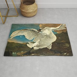 Jan Asselijn - The Threatened Swan Rug