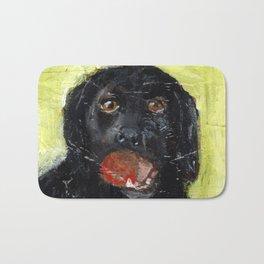 Dog with Red Ball Bath Mat