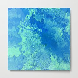 abstract Painting 04 aqua Metal Print
