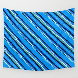 Drops of blue paint Wall Tapestry