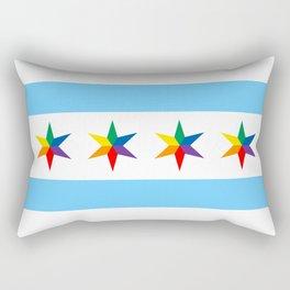Chicago Pride Flag Rectangular Pillow