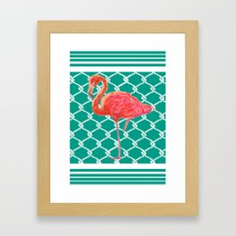 Flamingo Flare- Coastal Home Decor Framed Art Print