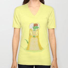Queen Elizardbeth I Unisex V-Neck