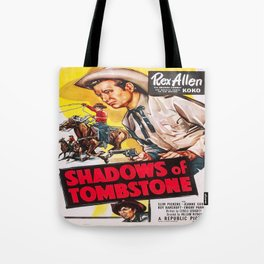 Vintage poster - Shadows of Tombstone Tote Bag
