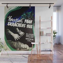 House of Horrors, vintage horror movie poster,  Krossen, Fran Skrackens Hus Wall Mural