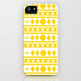 Tribal pattern Yellow iPhone Case