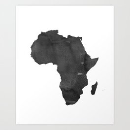WATERCOLOR AFRICA MAP Africa Map Watercolor Painting Watercolor poster Handmade poster Continent Art Print