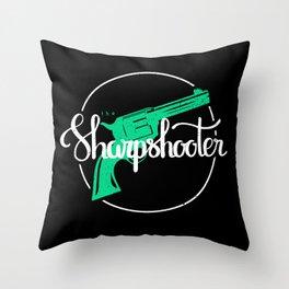 The Sharpshooter Throw Pillow