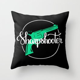 The Sharpshooter Throw Pillow