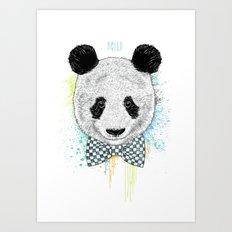 Hello Panda Art Print