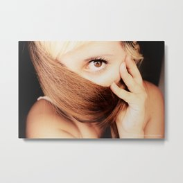 gold look Metal Print