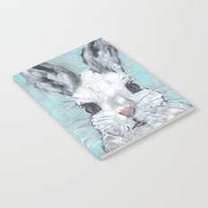 Bunny on Blue Notebook