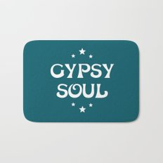 Gypsy Soul Mystical Stars Teal Bath Mat