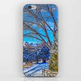 A Wyoming Winter Day X1 iPhone Skin