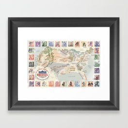 Fantasy Football Map Framed Art Print
