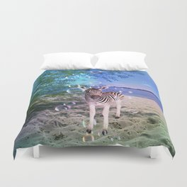 Bubbles with Zebra Duvet Cover