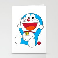 doraemon Stationery Cards featuring Happy DORAEMON #1 by Timeless-Id