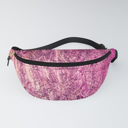 Abstract crumpled foil background. Neon colors Fanny Pack