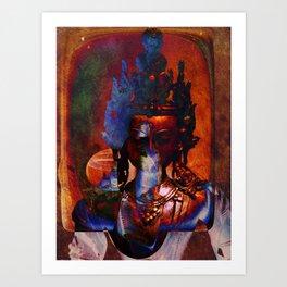 Dakini Wisdom Goddess #7 Dark Mirror Art Print