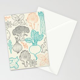 I love vegetables! Stationery Cards