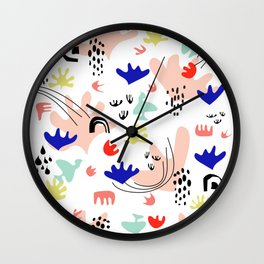 Colorful Land - Shapes Pattern Wall Clock