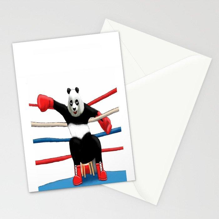 Boxing Panda Stationery Cards