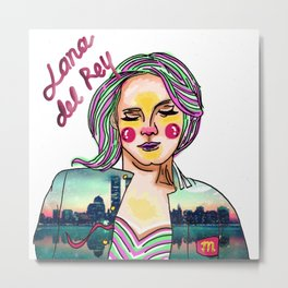 Lana in Decorative Rey Metal Print