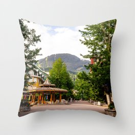 Whistler Village - British Columbia, Canada Throw Pillow