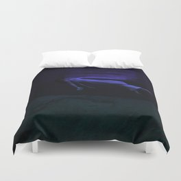 Rising To The Top : Deep Blue Water Photograph Duvet Cover