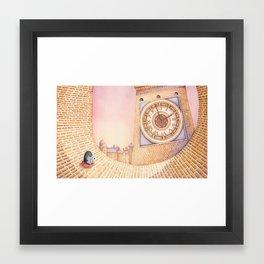 City Penguin Framed Art Print