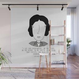 Literary Love: Virginia Woolf Wall Mural