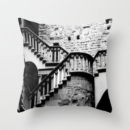 The Stairs at Poppi Castle Throw Pillow