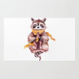 raccoon meditates (male) Rug