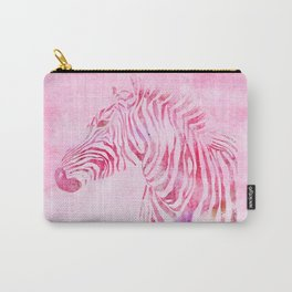 Zebra Watercolor Pink Carry-All Pouch