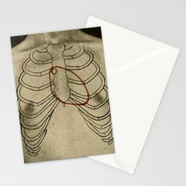 Red heart. Stationery Cards
