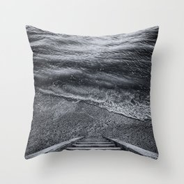 Steps to the Sea Throw Pillow