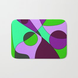 Abstract pattern Cuts Bath Mat