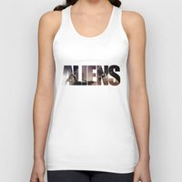 aliens Tank Tops featuring Aliens by Jehzbell Black