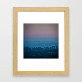 Peaks at Dusk Framed Art Print