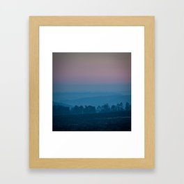 Peaks at Dusk Framed Art Print