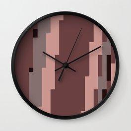 Mauve Pixels Wall Clock
